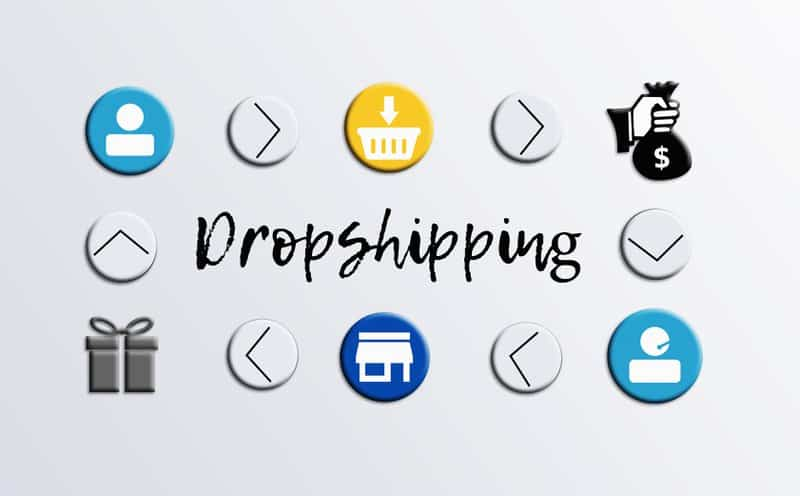 Dropshipping is a way for the items to be shipped without officially having the item.